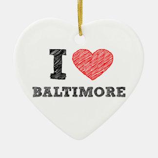 I-Love-Baltimore Ceramic Ornament
