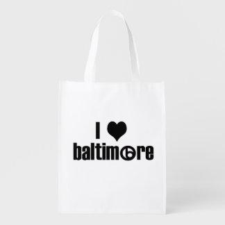 I Love Baltimore Grocery Bag