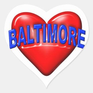 I love Baltimore Heart Sticker