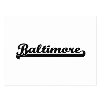 I love Baltimore Maryland Classic Design Postcard