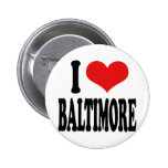 I Love Baltimore Pinback Buttons