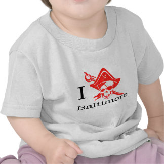 I Love Baltimore Pirate Shirt