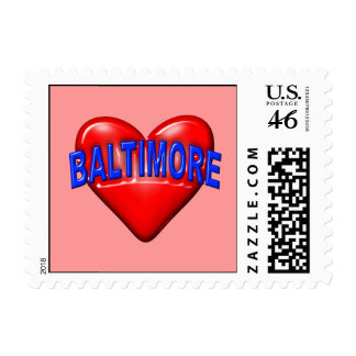 I love Baltimore Postage Stamps