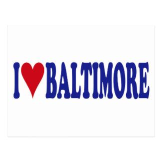 I Love Baltimore Post Card