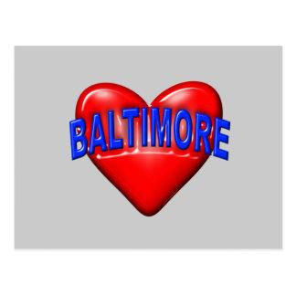 I love Baltimore Postcard