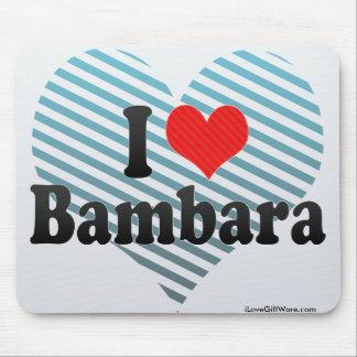 I Love Bambara Mouse Pad