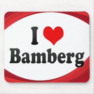 I Love Bamberg, Germany Mousepads