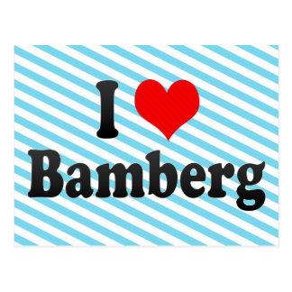 I Love Bamberg, Germany Postcard