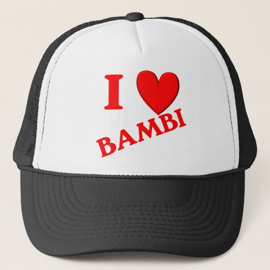 I Love Bambi Trucker Hat