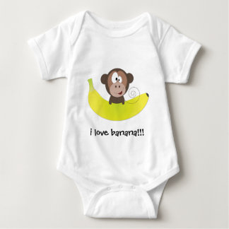i love banana!!! baby bodysuit
