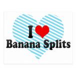 I Love Banana Splits Postcard