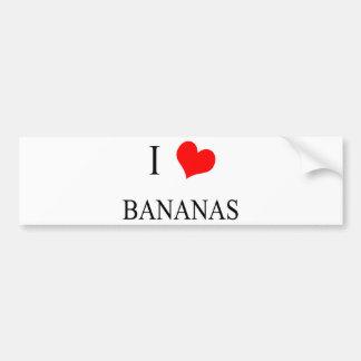 I Love Bananas Bumper Sticker