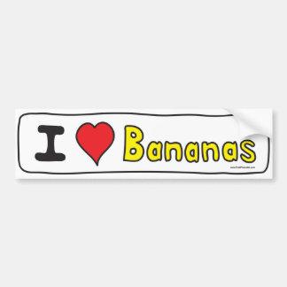 I Love Bananas (I Heart Bananas) Bumper Sticker