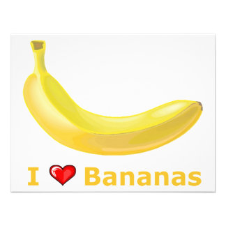 I Love Bananas Personalized Announcements