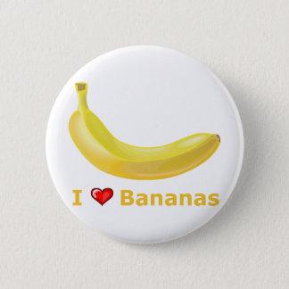 I Love Bananas Pinback Button