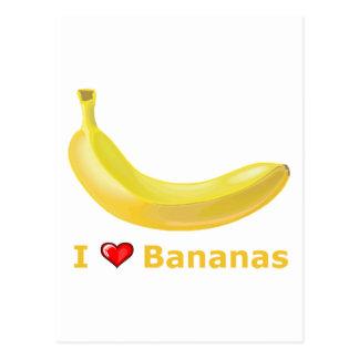 I Love Bananas Postcard