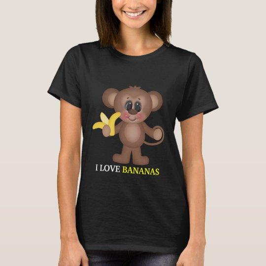 I Love Bananas womens t-shirt