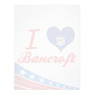 I Love Bancroft, Maine Personalized Letterhead