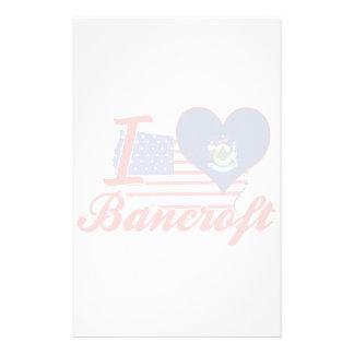 I Love Bancroft, Maine Custom Stationery