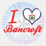 I Love Bancroft, West Virginia Classic Round Sticker