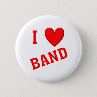 I Love Band Button
