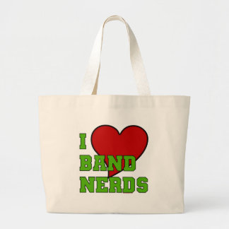 I Love Band Nerds 2 Large Tote Bag
