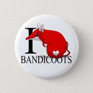 I Love Bandicoots Buttons