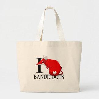 I Love Bandicoots Tote Bags