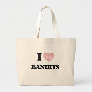 I love Bandits (Heart made from words) Jumbo Tote Bag