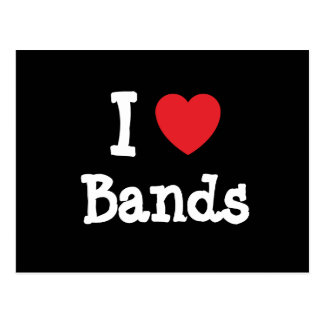 I love Bands heart custom personalized Postcard