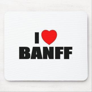 I Love Banff Mouse Pad