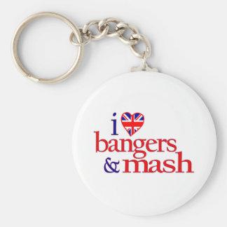 I Love Bangers And Mash Basic Round Button Keychain