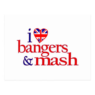 I Love Bangers And Mash Postcard