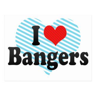 I Love Bangers Postcard