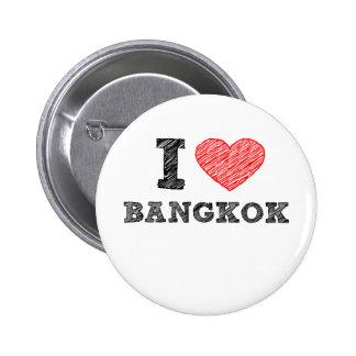I Love Bangkok Pinback Buttons