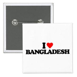 I LOVE BANGLADESH BUTTONS