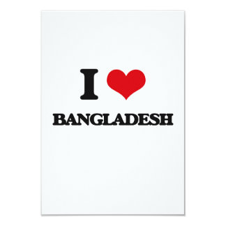I Love Bangladesh Customized Announcement Cards