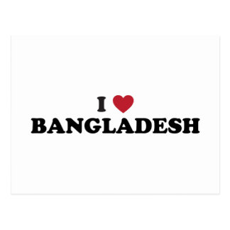 I Love Bangladesh Postcard