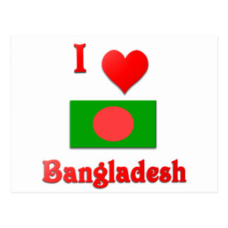 I Love Bangladesh Postcard