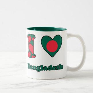 I love Bangladesh Two-Tone Coffee Mug