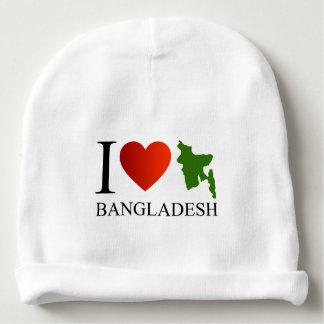 I love Bangladesh with map Baby Beanie
