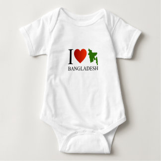 I love Bangladesh with map Baby Bodysuit