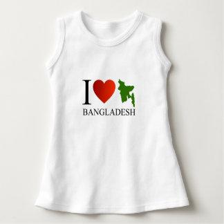 I love Bangladesh with map Dress