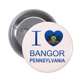 I Love Bangor, PA Pins