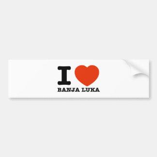 I Love Banja Luka Car Bumper Sticker