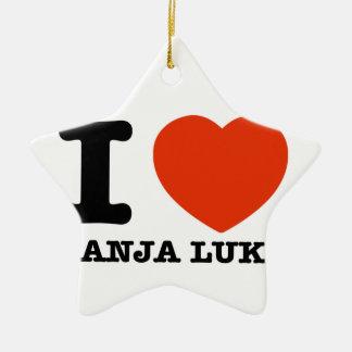 I Love Banja Luka Ceramic Ornament