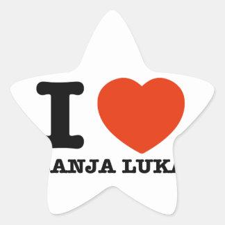 I Love Banja Luka Star Stickers