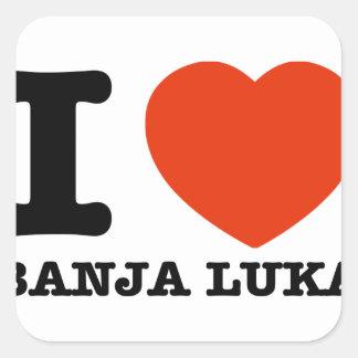 I Love Banja Luka Square Sticker