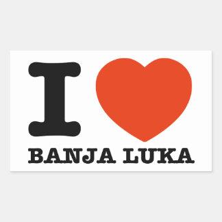 I Love Banja Luka Rectangular Sticker