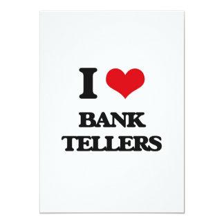 "I Love Bank Tellers 5"" X 7"" Invitation Card"